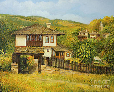 Autumn Afternoon In Bojenci Poster by Kiril Stanchev