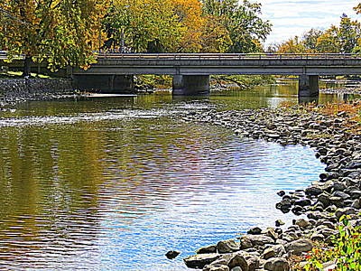 Autumn Along The Fox River Poster