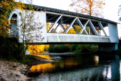 Autumn And The Larwood Bridge Poster