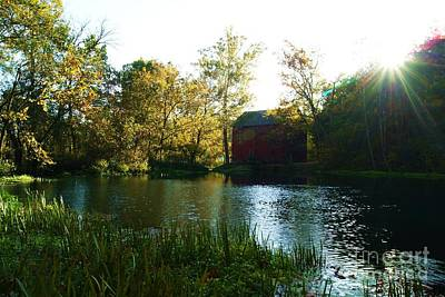 Poster featuring the photograph Autumn At Alley Spring And Mill by Julie Clements