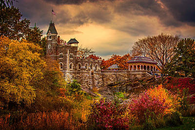 Autumn At Belvedere Castle  Poster by Chris Lord