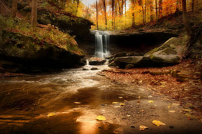 Autumn At Blue Hen Falls Poster