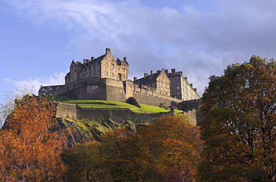 Autumn At Edinburgh Castle Poster