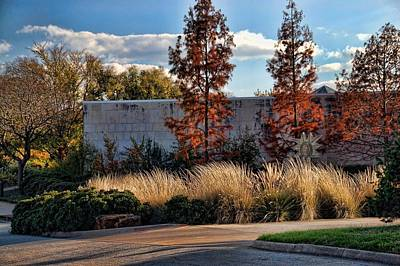 Autumn At Fort Worth Botanic Gardens Poster