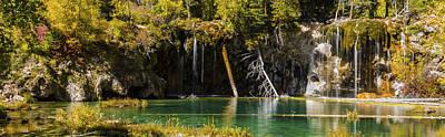 Autumn At Hanging Lake Waterfall Panorama - Glenwood Canyon Colorado Poster by Brian Harig