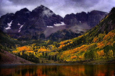 Poster featuring the photograph Autumn At Maroon Bells by Ellen Heaverlo