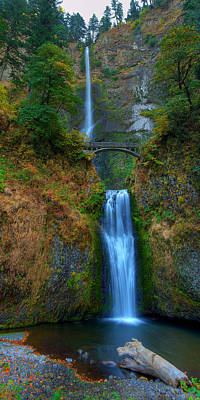 Autumn At Multnomah Falls Poster
