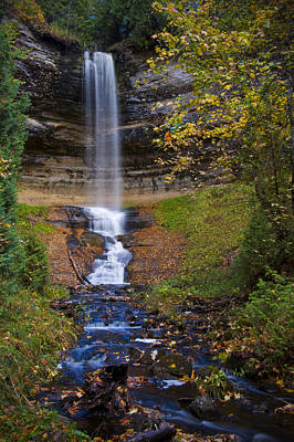 Autumn At Munising Falls Poster
