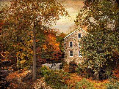 Autumn At Stone Mill Poster by Jessica Jenney