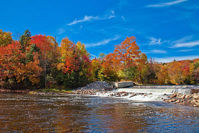 Autumn At The Lock And Dam Poster by David Patterson