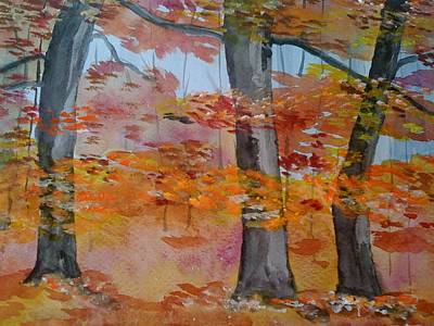 Poster featuring the painting Autumn Beauty by Judi Goodwin