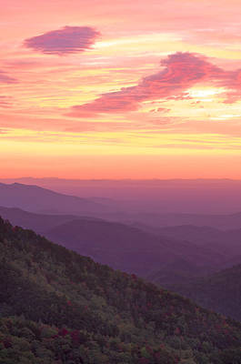 Autumn Blue Ridge Sunrise Poster by Photography  By Sai