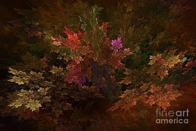Poster featuring the digital art Autumn Bouquet by Olga Hamilton