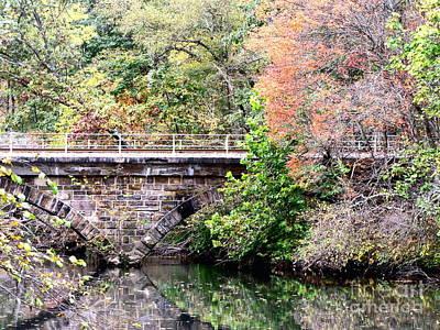 Autumn Bridge Poster by Melissa Stoudt