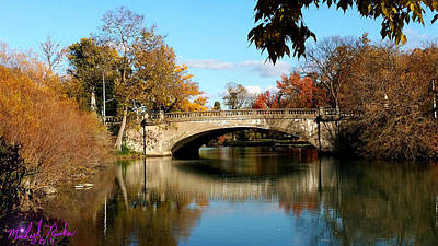 Autumn Bridge Poster by Michael Rucker