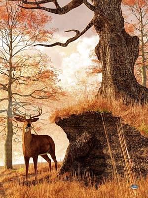 Autumn Buck Poster by Daniel Eskridge