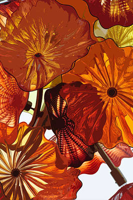 Poster featuring the digital art Autumn Burst by Kirt Tisdale