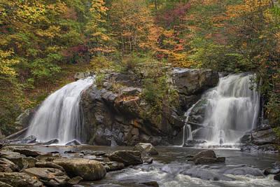 Autumn Cascades Poster by Debra and Dave Vanderlaan