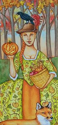 Autumn Colonial Poster by Beth Clark-McDonal