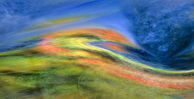 Autumn Color Swirl Poster by Michael Hubley