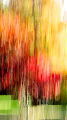 Autumn Colors In Abstract Poster