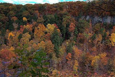 Autumn Colors In Taughannock State Park Ithaca New York Poster by Paul Ge