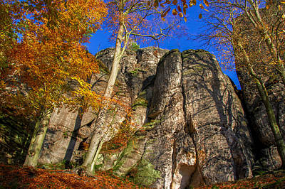 Autumn Colors In The Saxon Switzerland Poster