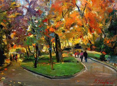 Autumn Colors - Lugano Poster by Sefedin Stafa