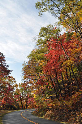 Autumn Day On The Blue Ridge Parkway Poster