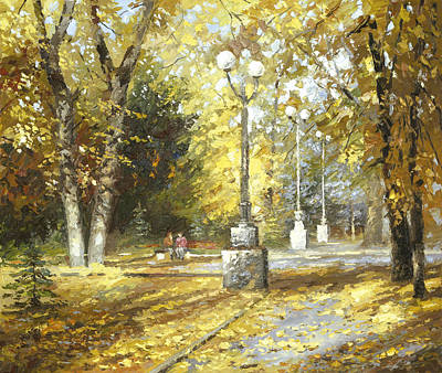 Poster featuring the painting Autumn by Dmitry Spiros