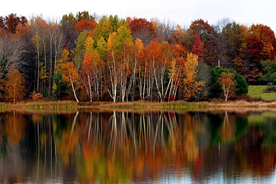 Autumn Evening On Rose Valley Lake Poster