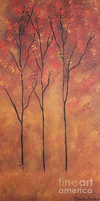 Poster featuring the painting Autumn Fire by Christie Minalga