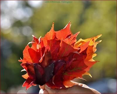 Autumn Flower Poster by Sonali Gangane