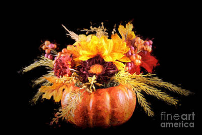 Autumn Flowers Poster by Darren Fisher