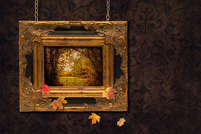 Autumn Frame Poster by Amanda Elwell