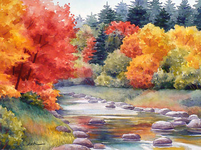 Autumn Glory Poster by Janet  Zeh