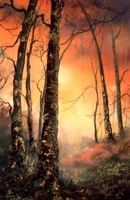 Autumn Glow Poster by Jean Walker