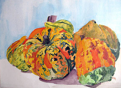 Autumn Gourds Poster