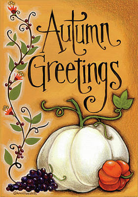 Autumn Greetings Pumpkin Poster