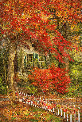 Autumn - House - Festive - Van Gogh Poster by Mike Savad