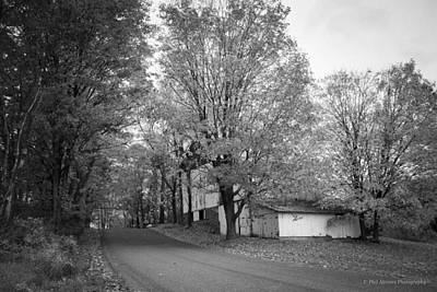 Poster featuring the photograph Autumn In Black And White by Phil Abrams