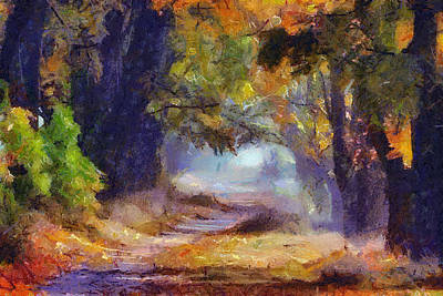 Poster featuring the painting Autumn In Forest by Georgi Dimitrov