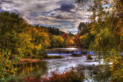 Autumn In New England - Contoocook Nh Poster by Joann Vitali