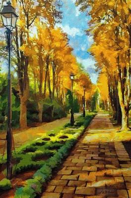 Autumn In Public Gardens Poster