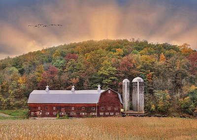 Autumn In Wellsboro Poster by Lori Deiter