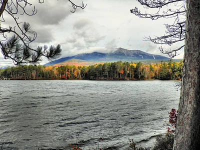 Poster featuring the photograph Autumn Katahdin by Gene Cyr