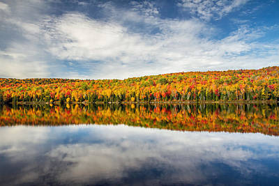 Autumn Lake Reflection Poster by Pierre Leclerc Photography