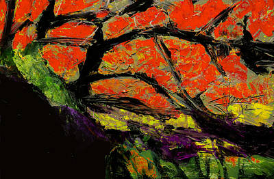 Poster featuring the digital art Autumn Landscape   by Jim Vance