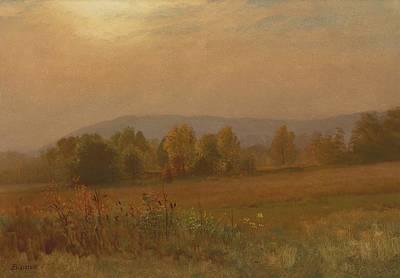 Autumn Landscape New England Poster by Albert Bierstadt