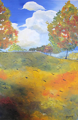 Poster featuring the painting Autumn Leaves Panel 2 Of 2 by Gary Smith